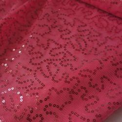 Сетка с пайетками розовая 5