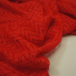 Сетка вязаная красная