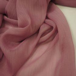 Шифон с эффектом мятости розовый