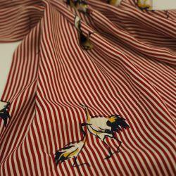 Штапель красная полоска аист