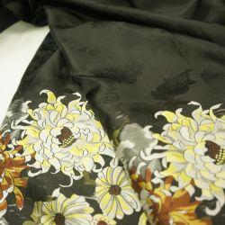 Тафта цветы черный