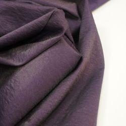 Тафта фиолетовый с эффектом мятости и блеском