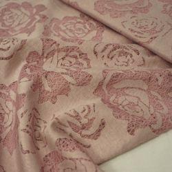 Трикотаж гипюровый розовый