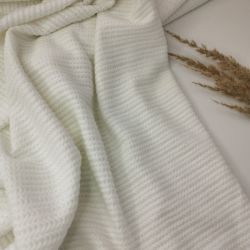 Трикотаж косичка мелкая белый