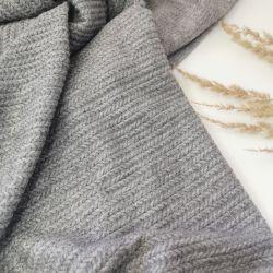 Трикотаж косичка мелкая серый