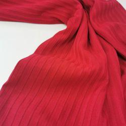 Трикотаж лапша широкая полоска красный