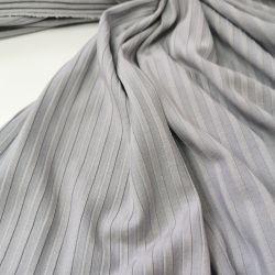 Трикотаж лапша широкая полоска серый