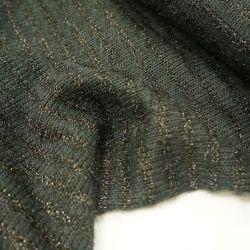 Трикотаж вязанный с люрексом черный