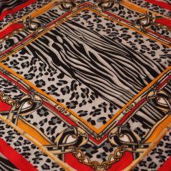 Вискоза рисунок платок красный