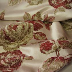 Жаккард розы бордо